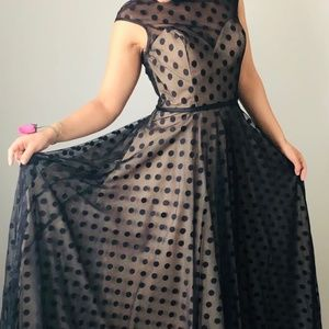 Black polka dot Prom/Grad Dress